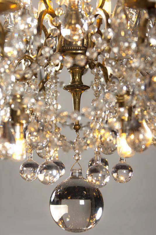 19th century crystal chandelier