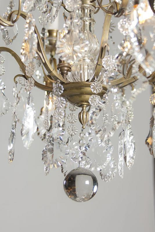 Antique candle chandelier with lights