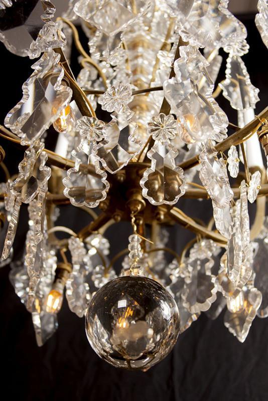 Grote Franse antieke kroonluchter met Led lampen