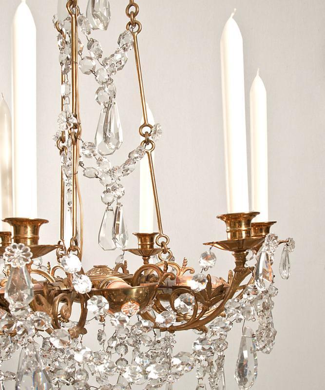 Antieke kristallen Franse Baccarat kroonluchter