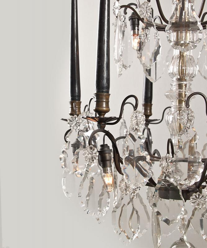 Französisch Kerze Kronleuchter mit schwarzem Rahmen ...