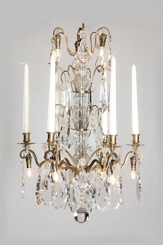 Gilded antique chandelier from France with led lighting