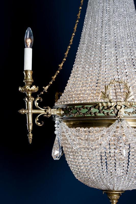 Antieke kristallen zakluchter Werner & Mieth