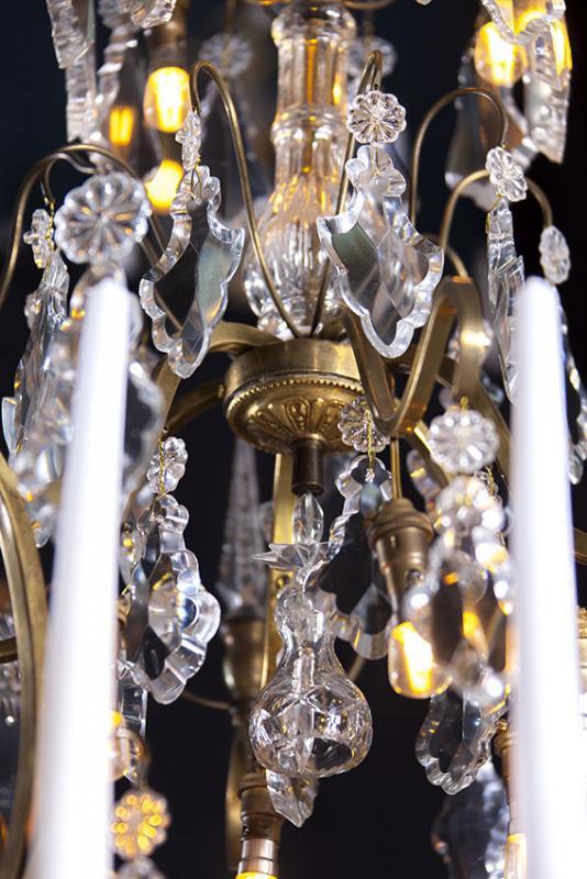 Grote antieke kristallen kaarsen kroonluchter