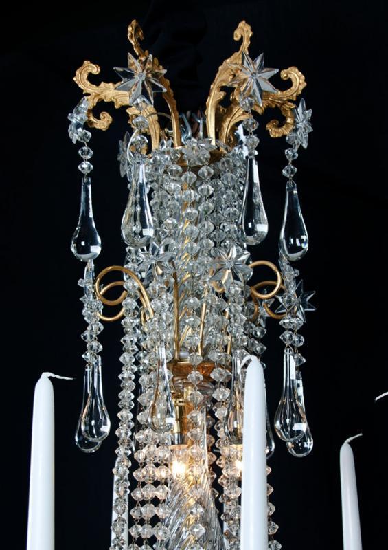 Baccarat vergulde antieke lustre a tige