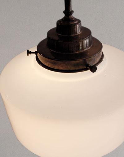 set melkglazen design lampen jaren 30