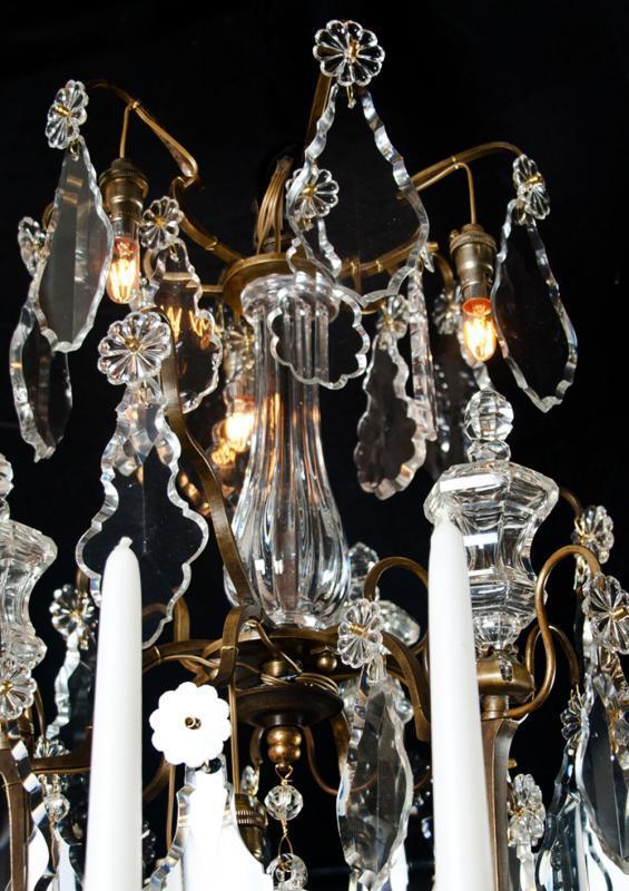 19e eeuwse antieke kristallen kroonluchter