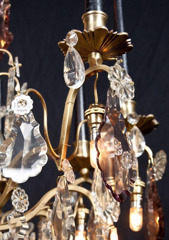 antieke kristallen kroonluchter uit Frankrijk
