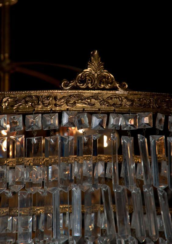 grote kristallen zakluchter jaren 30 uit italië