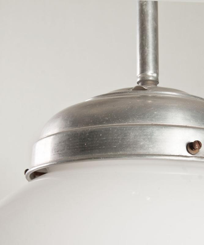 set melkglazen design lampen, jaren 30 vintage.