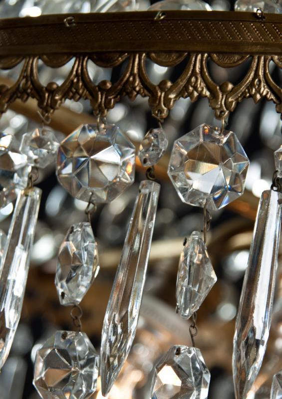 Grote sac a perles uit Frankrijk met kristal