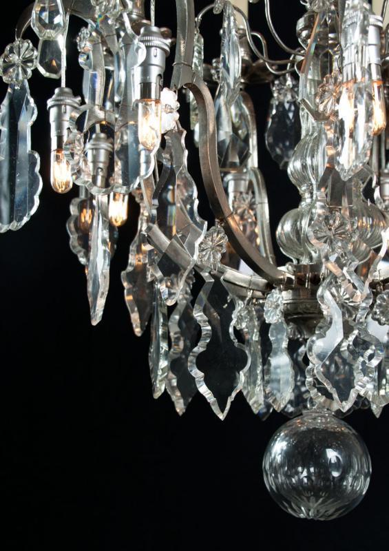 Grote Franse lustre a cage met kristal