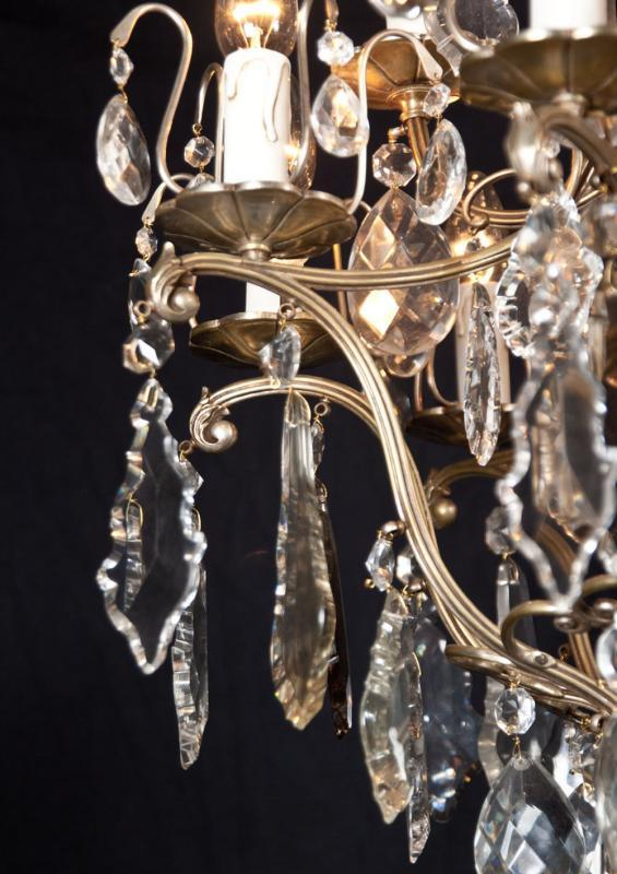 Antieke kristallen Franse kroonluchter