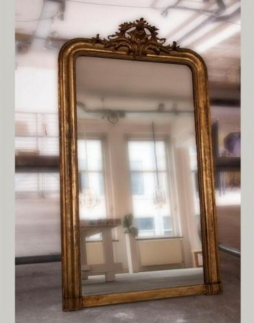 Antieke Franse 19e eeuwse spiegel