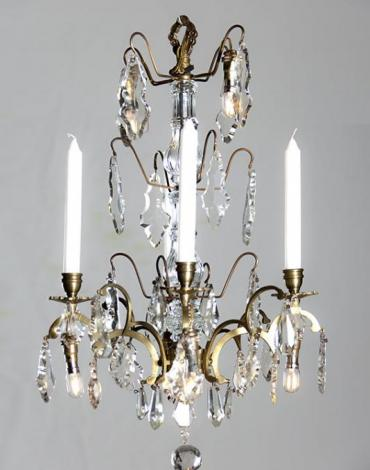 Antique French chandelier with led lighting