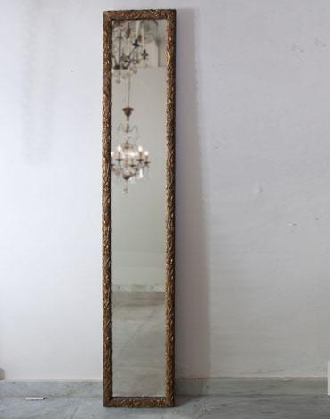 Art nouveau spiegel met bladgoud uit Frankrijk