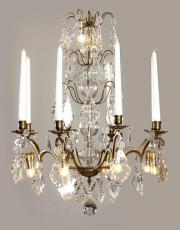 French antique candle chandelier with Led lights
