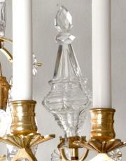 Franse antieke lustre a tige louis xv