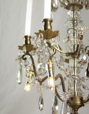 Antieke kristallen kroonluchter met Led lampjes