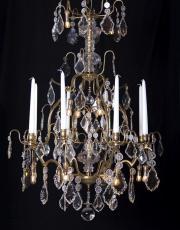 Antiker Französischer Käfig Kerzen Kronleuchter mit Led