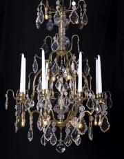 Antique French birdcage candle chandelier with Led