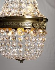 Antique French crystal pearlbag 1920s