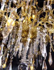 Baccarat grote vergulde antieke kristallen kroonluchter