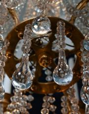 Baccarat antieke vergulde lustre a tige