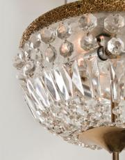 grote antieke kristallen Franse plafonier