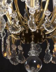 Grote antieke lustre a cage kroonluchter uit Frankrijk