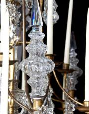 original 18 th century large candle chandelier