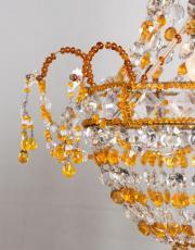 Italiaanse amber gekleurde zakluchter