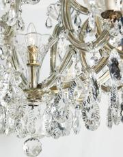 Large antique Marie Therese chandelier 1930s
