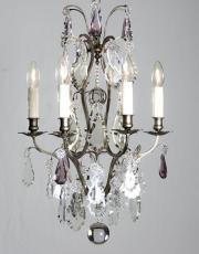 Silver antique chandelier from France