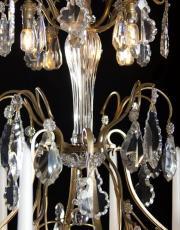Vergulde kristallen antieke Louis XV kaarsen kroonluchter met kaarsen en Led ver