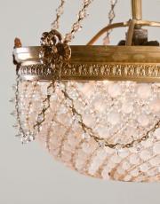 Franse antieke sac a perles kroonluchter