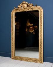 Antiker Spiegel mit Blattgold