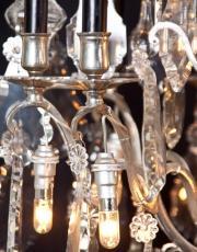 antieke zilveren kroonluchter