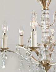 Franse kristallen kroonluchter met zilveren armen