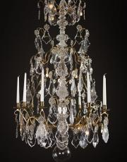 Very large antique chandelier from France