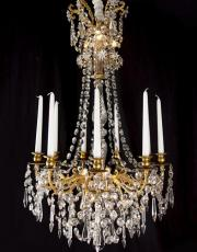Baccarat gilded French chandelier