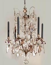 silver plated large chandelier