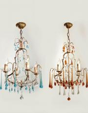 set italian chandeliers