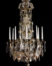 Large French antique chandelier with Led lights