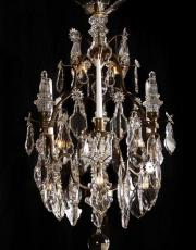 French antique Louis XV cage chandelier by Henri Vian