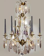 Antique French candle chandelier with Led lights