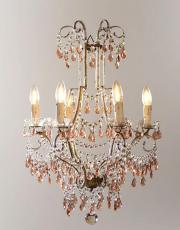 Antique Italian pink chandelier