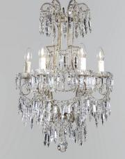 antique Italian crystal 1930s chandelier