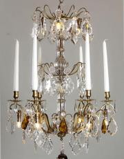 Antique French chandelier with LED and candles