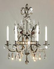 Antique silver French chandelier